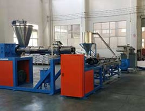 Double stage granulating line